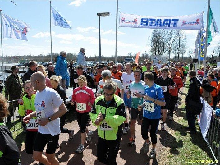 De start. (foto: 112Groningen.nl)