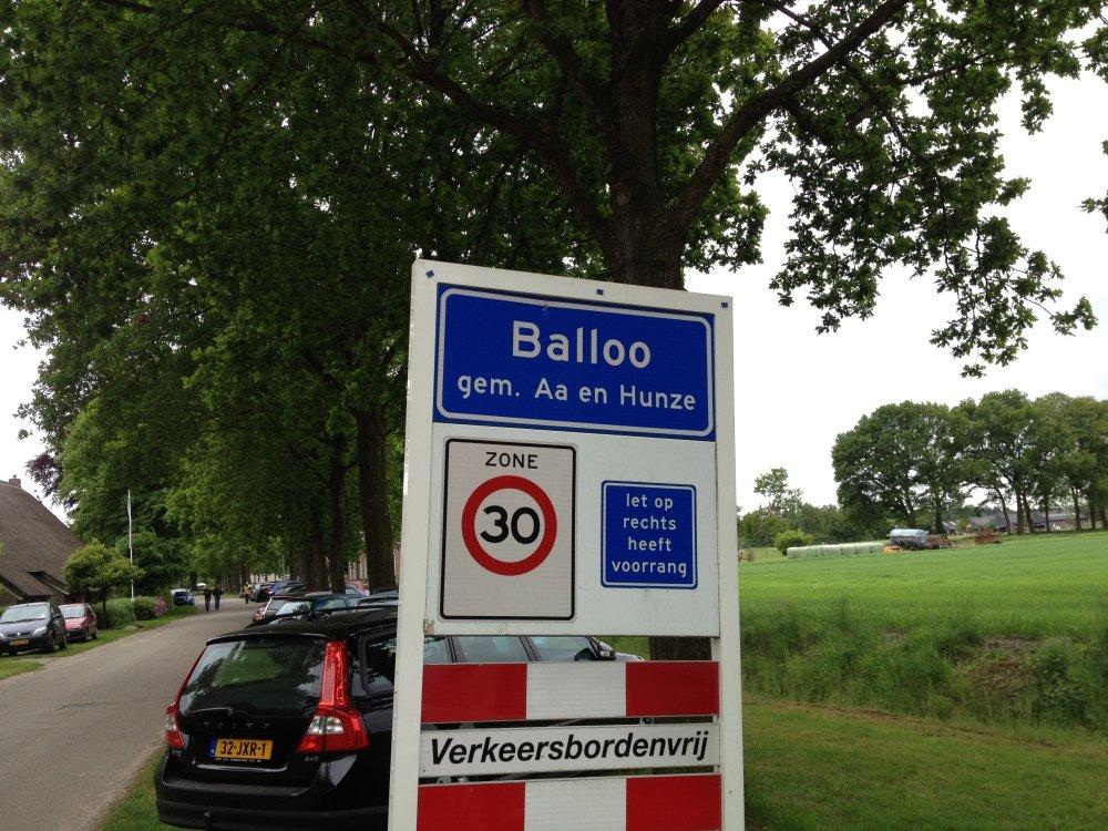 Aangekomen in Balloo.