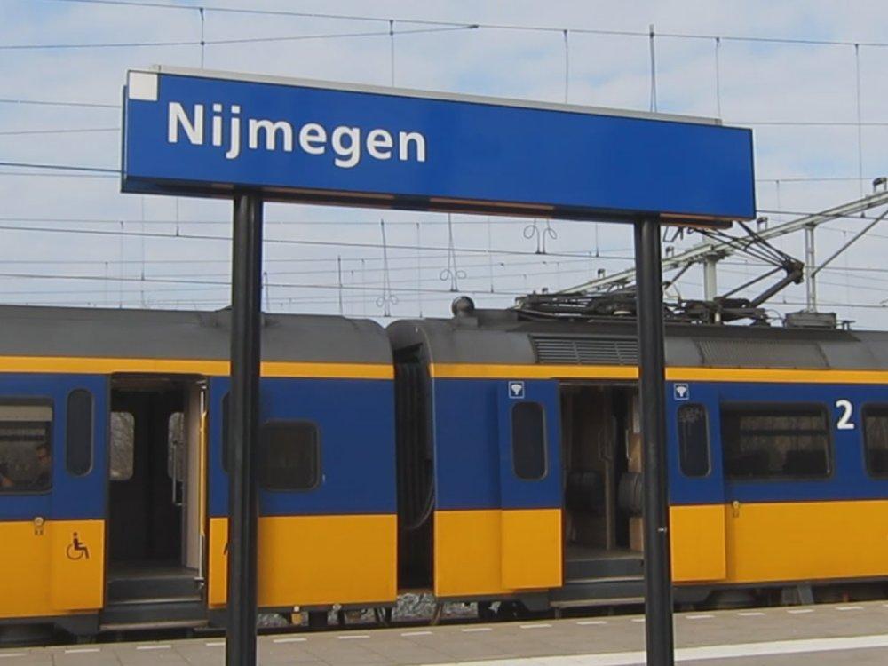 Met de trein naar Nijmegen.