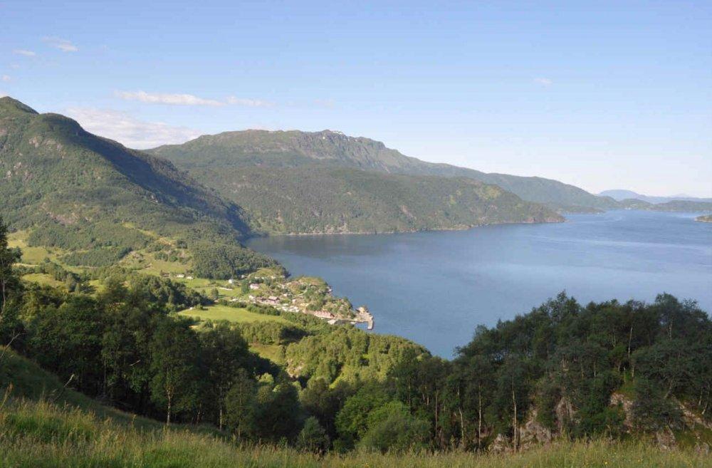 Het Åkrafjord.