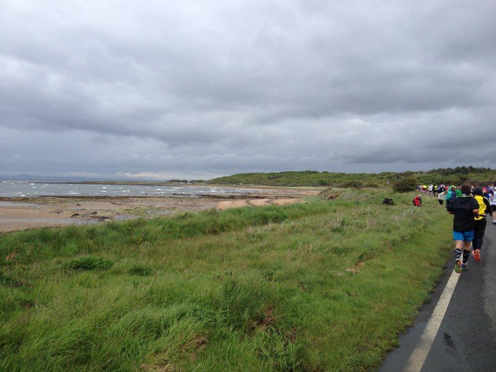 De kust bij Longniddry.