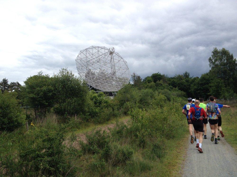 De radiotelescoop van Dwingeloo.