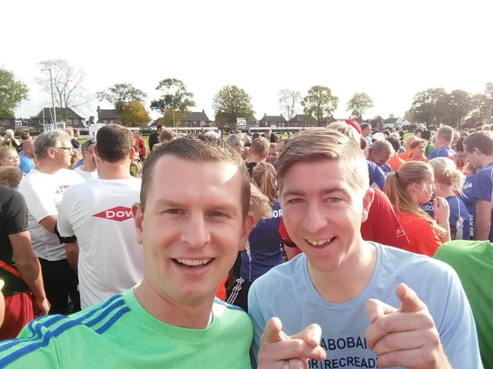 Selfie voor de race.