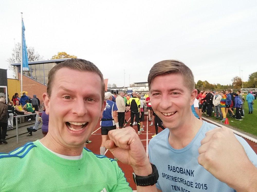 Selfie na de race.