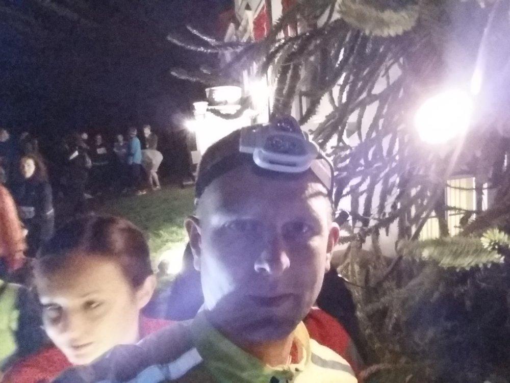 Hoofdlamp-selfie.