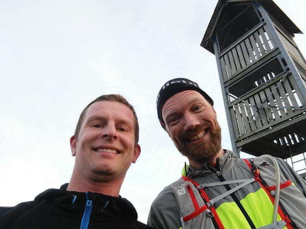 Samen met Robert Jan op de top.