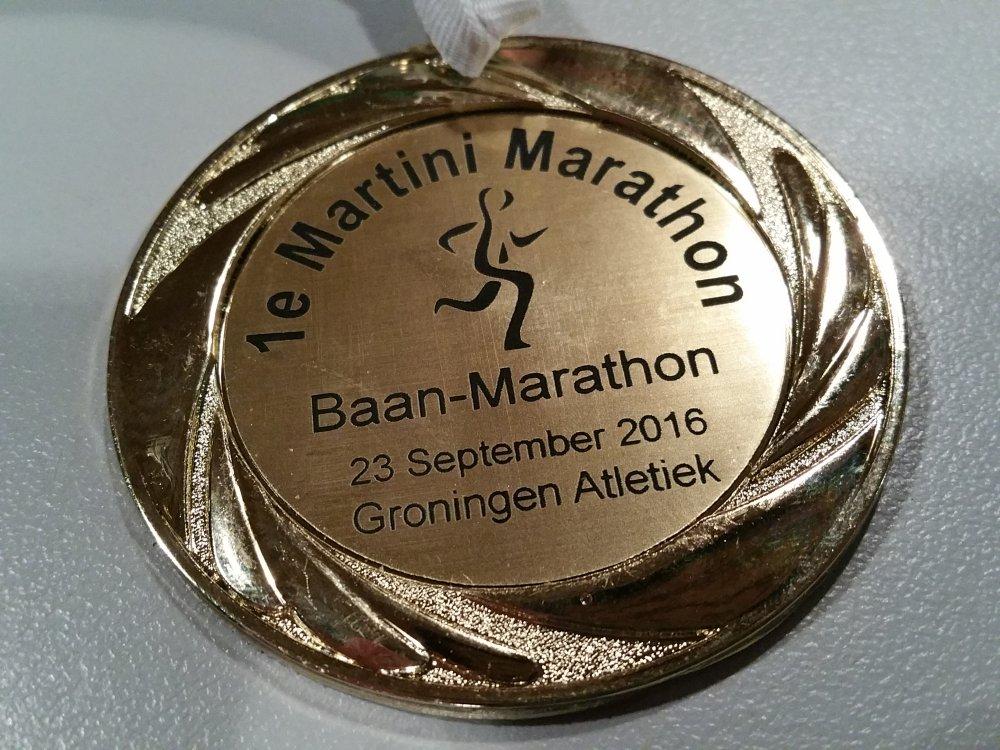 De welverdiende medaille.