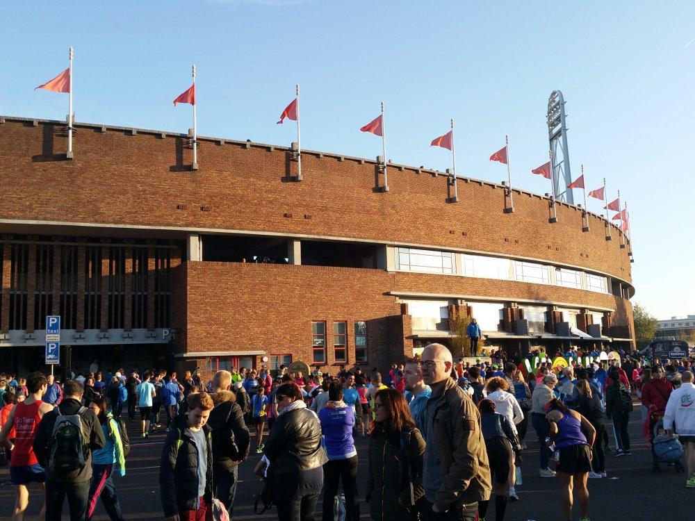 Naar het Olympisch Stadion.