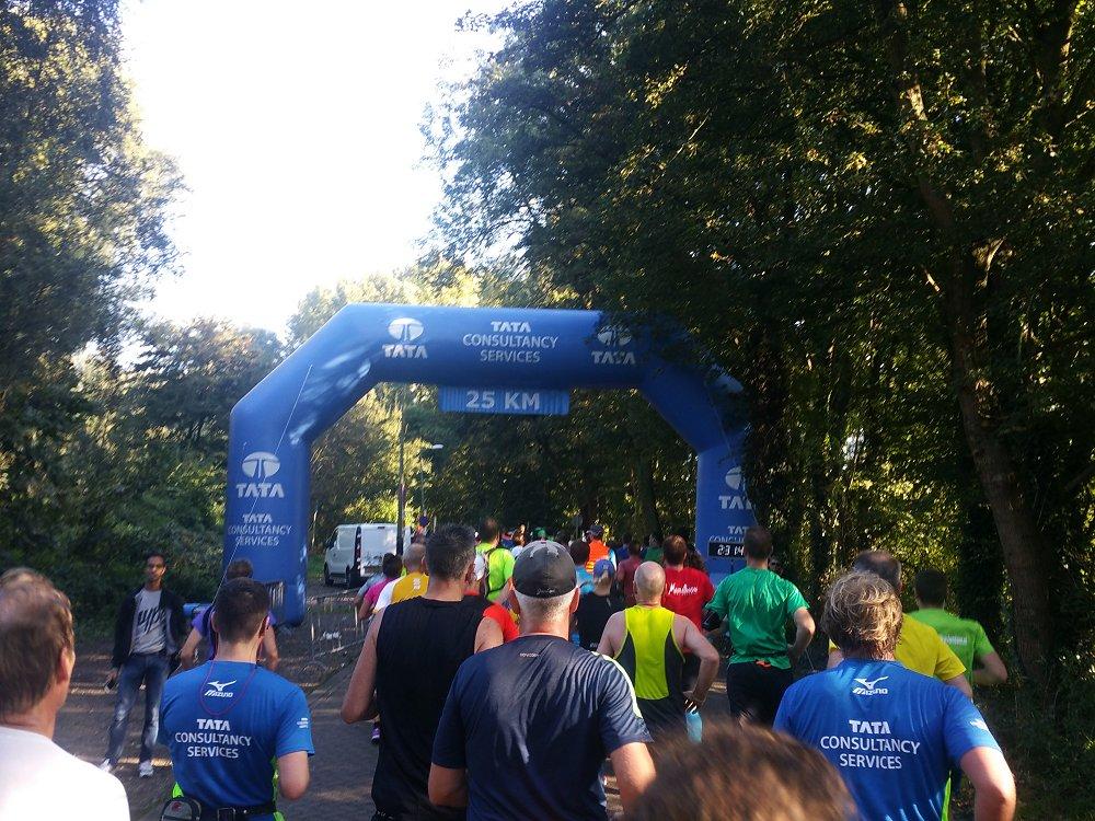 De eerste 25 kilometer zitten erop.