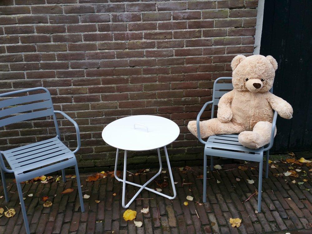 Teddyberen in het straatbeeld.